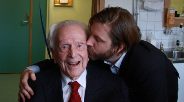 Pappa og jeg på hans 101 årsdag.