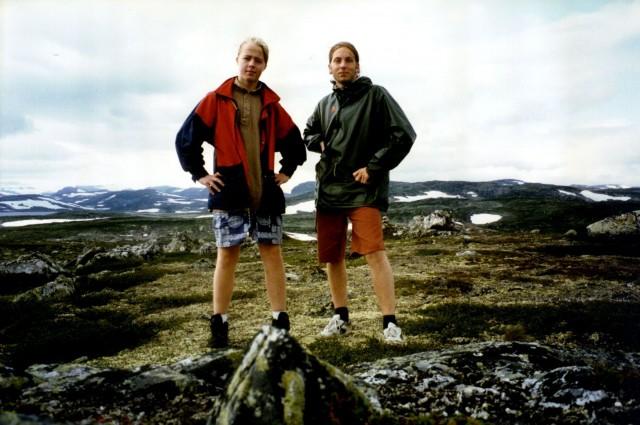 Erlend og Steinjo er på Hardangervidda i slutten av tenåra. Foto: Privat