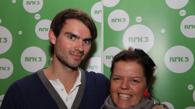 Henrik Thodesen og Torsdagkveld-kollega Else Koss Furuset (Foto: Kirsti Falch-Nilsen, NRK.no)
