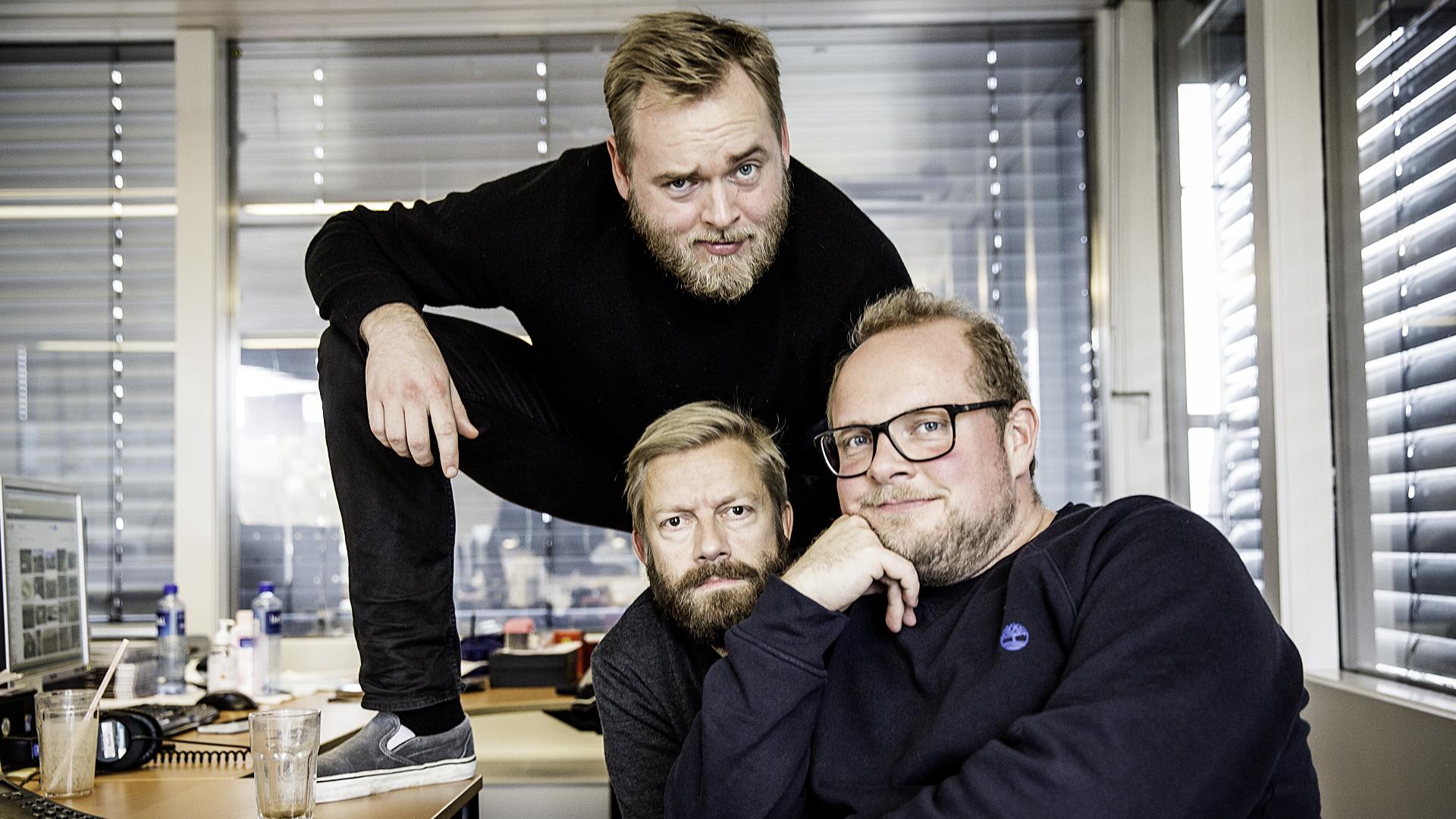 Tore, Bjarte og Steinar i Radioresepsjonen (Foto: Kristoffer Pettersen Rambøl, NRK P3).