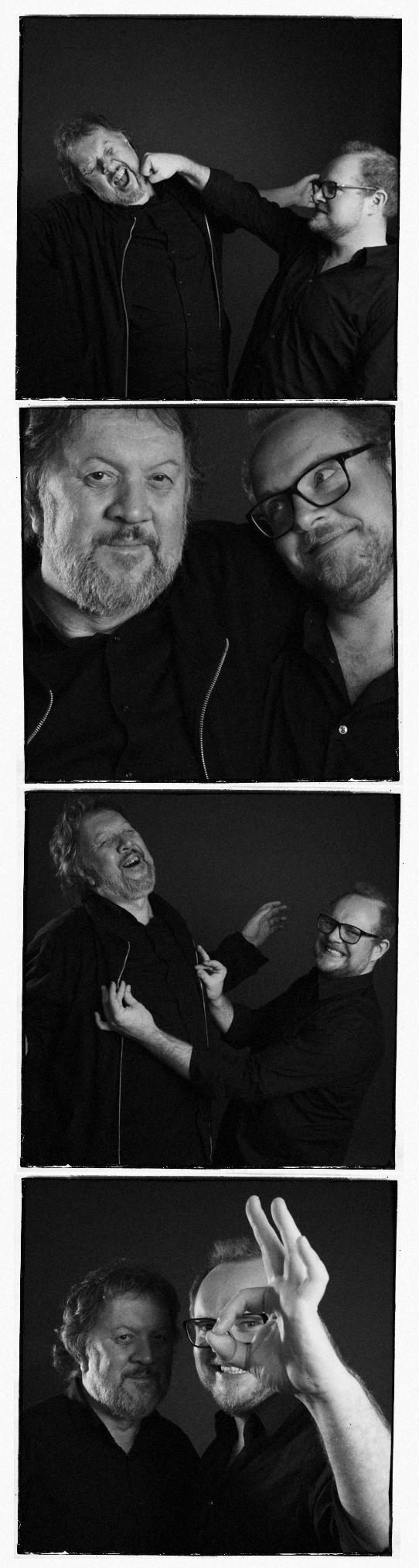 Steinar og Bjørn er allerede morsomme (Foto: Kim Erlandsen, NRK P3).