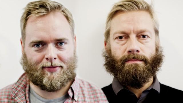 Tore og Bjartes skjegg 15. november (Foto: Kristoffer Pettersen Rambøl, NRK P3).