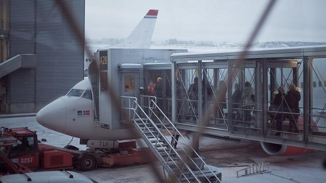 Flyet til fra Gardermoen til Sola (Foto: Jonas Bødtker, NRK P3).