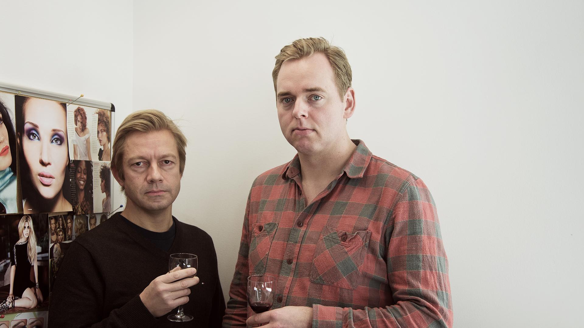 Tore og Bjartes skjeggkonkurranse er over (Foto: Jonas Bødtker, NRK P3).