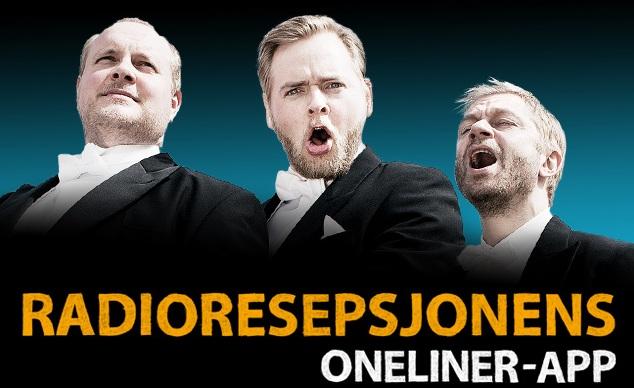 Steinar Sagen, Tore Sagen og Bjarte Tjøstheim - Radioresepsjonens oneliner-app (Foto: Kim Erlandsen, NRK P3).