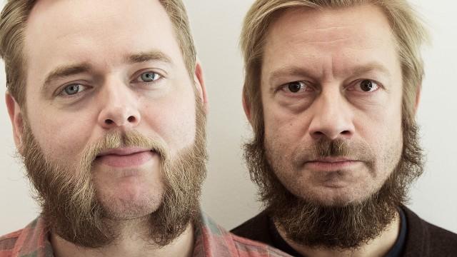 """Tore """"Grunnloven"""" Sagen og Bjarte """"Amish Hitler"""" Tjøstheim (Foto: Jonas Bødtker, NRK P3)."""