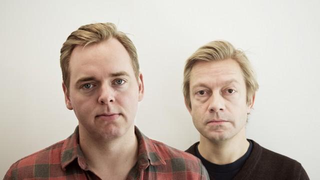Tore og Bjarte uten skjegg (Foto: Jonas Bødtker, NRK P3).