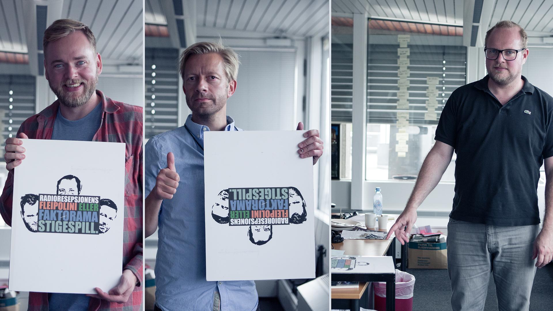 Her illustrerer Steinar, Tore og Bjarte flere måter å gi oppmerksomhet til et spill på.