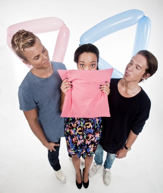 Even, Johanna og Benjamin. (Foto: Kim Erlandsen, NRK P3)