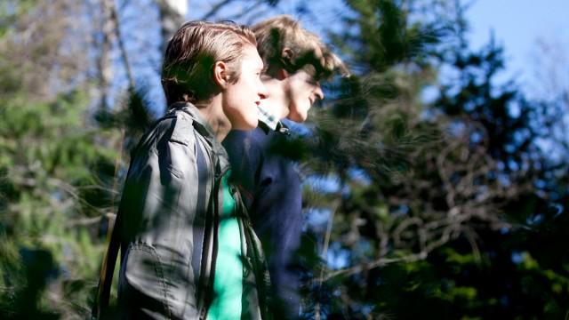 På tur i skogen med min date! (Foto: Maria Bodøgaard, NRK)