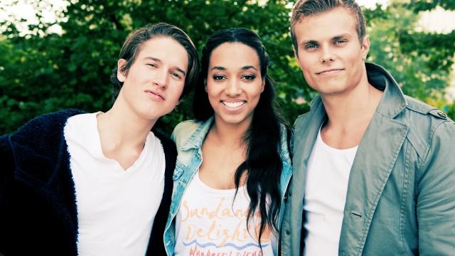 Benjamin, Johanna og Even. (Foto: Kim Erlandsen, NRK P3)