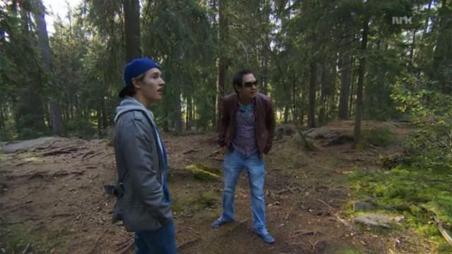 Vi så etter folk som lette etter sexpartnere i skogen ved Sognsvann. (Foto: NRK)