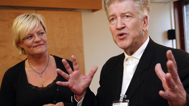 David Lynch var i Norge og snakket om bruken av meditasjon i Norske skoler og fengsler. (Foto: Erik Johansen/Scanpix )